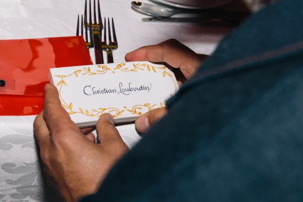Local craftsmen handmade bespoke place settings for our esteemed guests